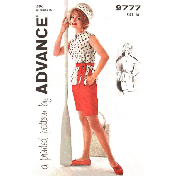 Advance 9777 tops and shorts pattern