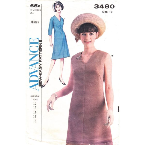 Advance 3480 dress sewing pattern