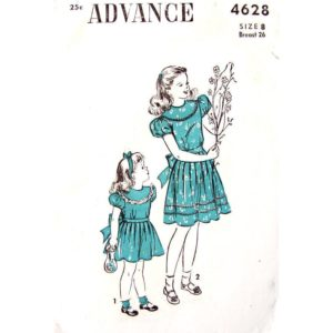 Advance 4628 girls dress pattern