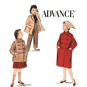 Advance 8098 girls coat pattern