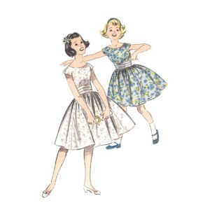 Advance 8251 girls dress pattern