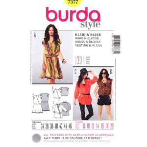 Burda 7377 top or dress pattern