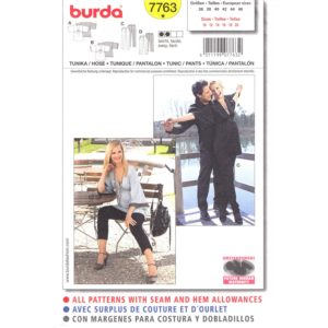Burda 7763 Maternity top pattern