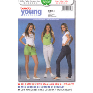 Burda 7823 pants pattern