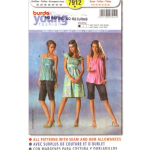 Burda 7912 halter top or dress pattern