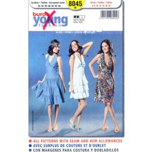 Burda 8045 dress sewing pattern