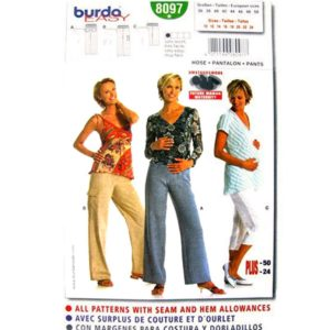 Burda 8097 maternity pants pattern