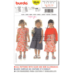 Burda 9644 girls dress pattern