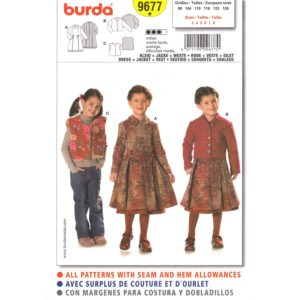Burda 9677 girls sewing pattern