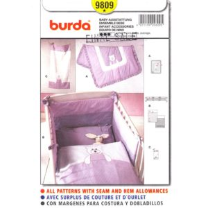 Burda 9809 crib bedding pattern