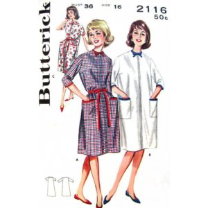 Butterick 2116 house dress pattern