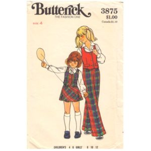 Butterick 3875 girls sewing pattern