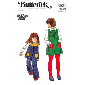 Butterick 3921 girls sewing pattern