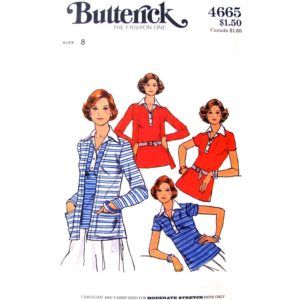 Butterick 4665 cardigan and top pattern