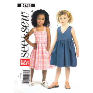 Butterick 4765 girls dress pattern