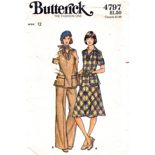Butterick 4797 vintage sewing pattern