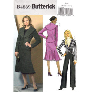 Butterick 4869 womens suit pattern