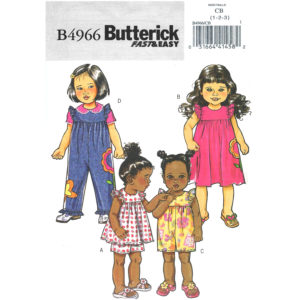 Butterick 4966 girls pattern