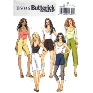 Butterick 5036 pants and shorts pattern