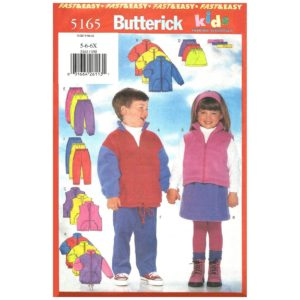 Butterick 5165 kids sewing pattern