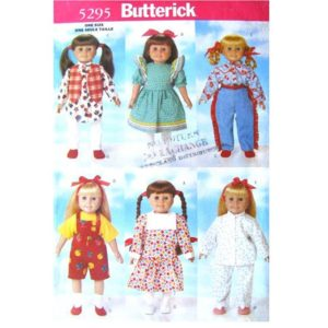 Butterick 5295 doll clothes pattern