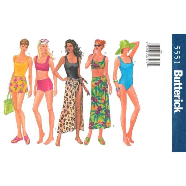 Butterick 5551 swimsuit and cover up pattern