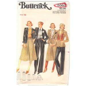 Butterick 5565 vintage suit pattern