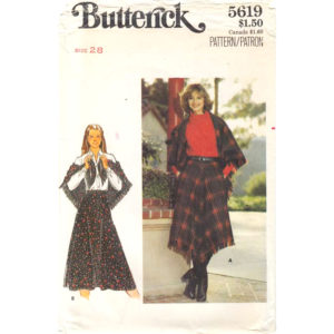 Butterick 5619 shawl and skirt pattern