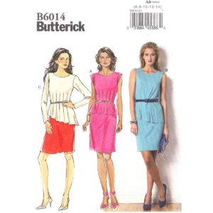 Butterick 6014 peplum dress pattern