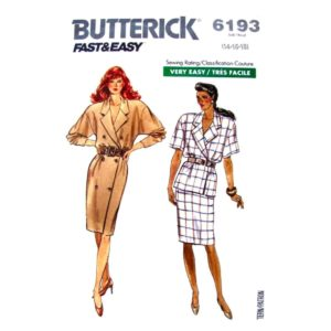 Butterick 6193 wrap dress top skirt pattern