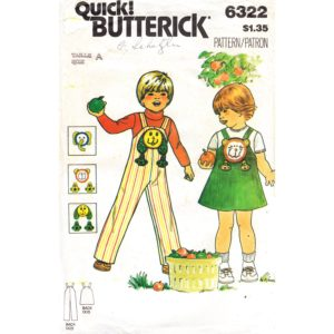 Butterick 6322 toddler sewing pattern