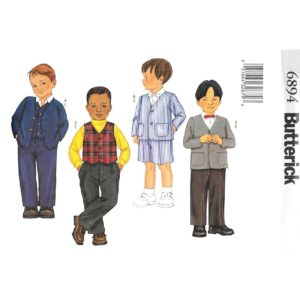 Butterick 6892 boys suit sewing pattern
