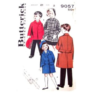Butterick 9057 kids coat pattern