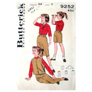 Butterick 9252 girls sewing pattern