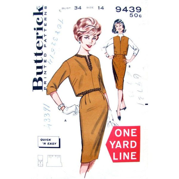 Butterick 9439 blouse and skirt pattern
