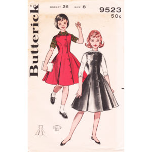 Butterick 9523 girls pattern