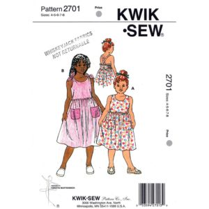 Kwik Sew 2701 girls dress pattern