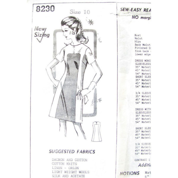 Mail Order 8230 dress sewing pattern