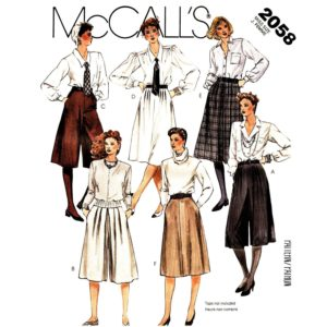 McCalls 2058 sewing pattern