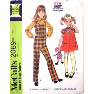 McCalls 2069 girls sewing pattern