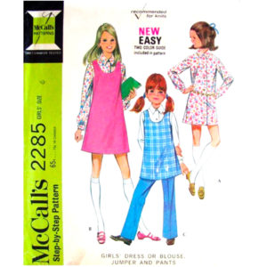 McCalls 2285 girls sewing pattern