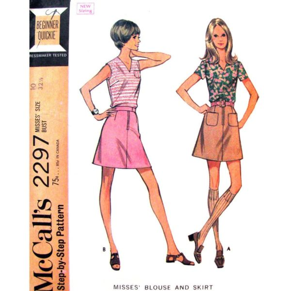 McCalls 2297 blouse and skirt pattern