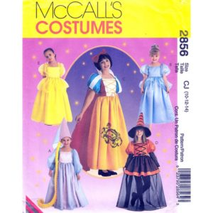 McCalls 2856 costume pattern sz 10-14