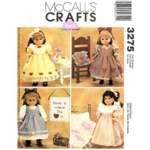 McCalls 3275 doll sewing pattern
