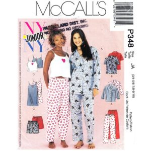 McCalls 3432 pajama pattern