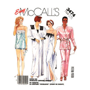 McCalls 3474 lingerie pattern
