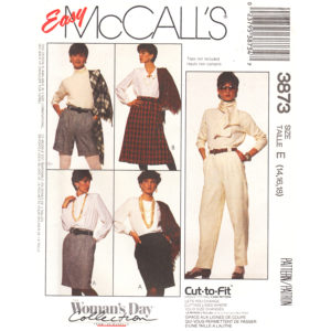 McCalls 3873 pants and skirt pattern