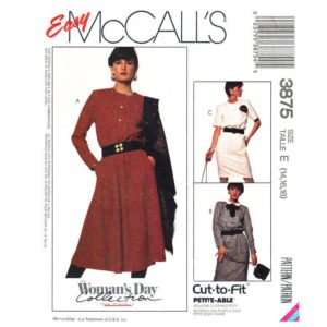McCalls 3875 shirt dress pattern