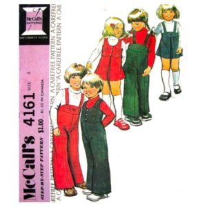 McCalls 4161 kids sewing pattern