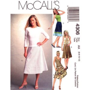 McCalls 4306 flared skirt pattern
